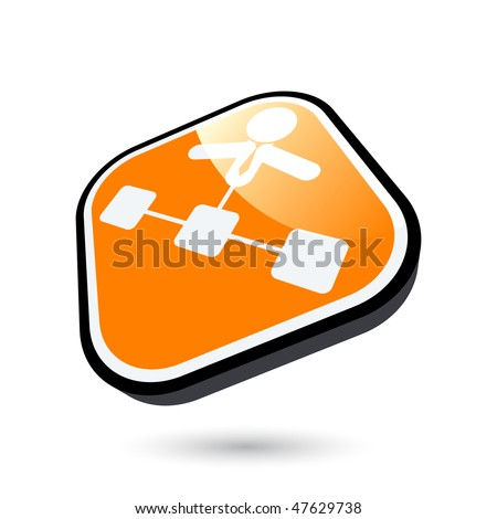 modern administration sign - stock vector