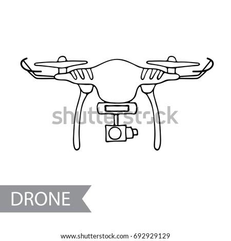 Modern Air Drone Remote Control Drone Stock Vector 692929129
