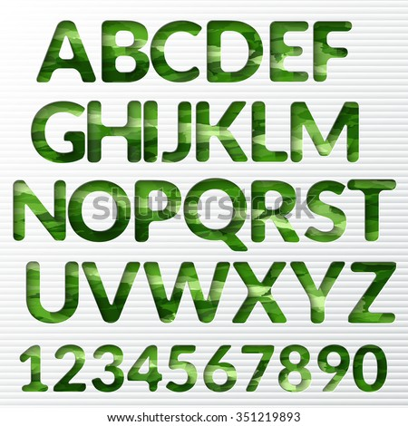 Modern alphabet with shadow effect. Vector letter