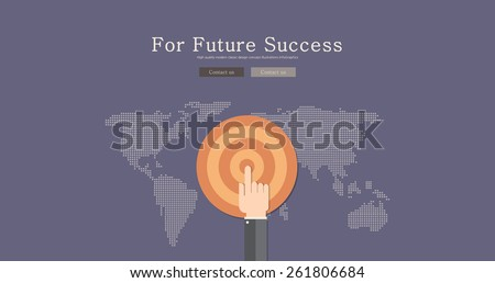 Modern and classic design for future success concept illustration - stock vector