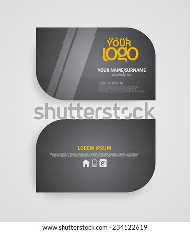 Modern Premium Business Card Template Layout Stock Vector 234522619