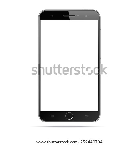 Modern android mobile phone / smartphone / tablet  isolated on white background. Blank screen. Realistic vector illustration - stock vector