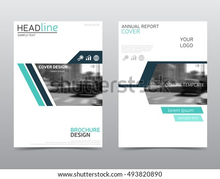 Modern Annual Report Cover Brochure Template Stock Vector 493820890