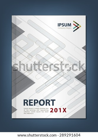 Modern Annual report Cover design vector, Multiply Arrow theme concept - stock vector