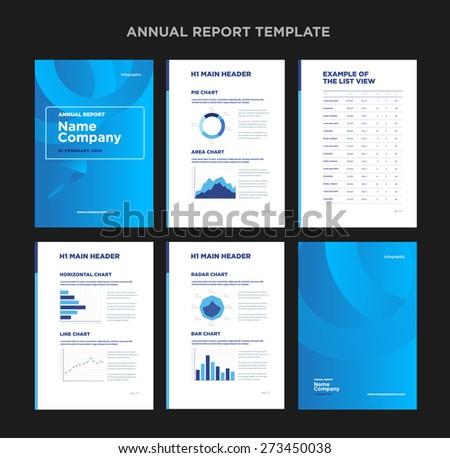 Modern Annual Report Template Cover Design Vector 273450032 – Annual Report Template Design