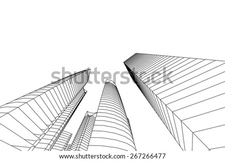 Modern architecture building. City background