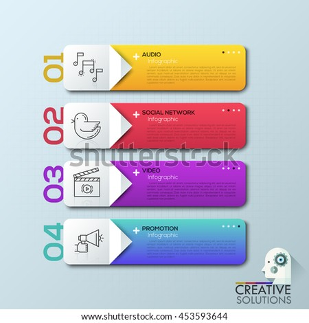 Modern arrow business infographic banner. Vector illustration. can be used for workflow layout, diagram, number options, step up options, web template, infographics. - stock vector