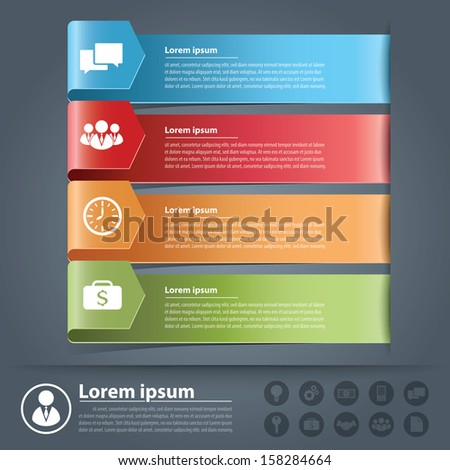 Modern arrow business options banner. Vector illustration. can be used for layout, diagram, number options, web design, infographics. - stock vector