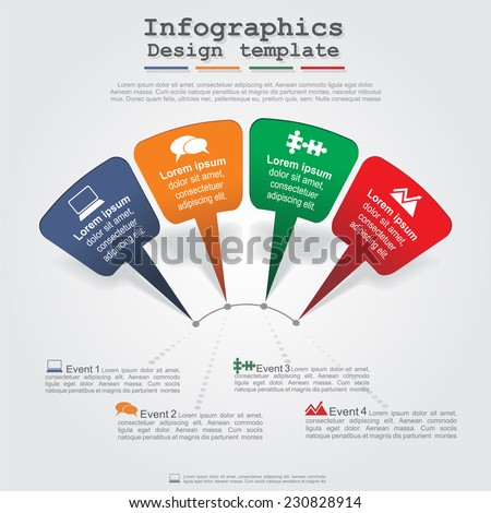 Modern arrow infographics element layout. Vector illustration. - stock vector