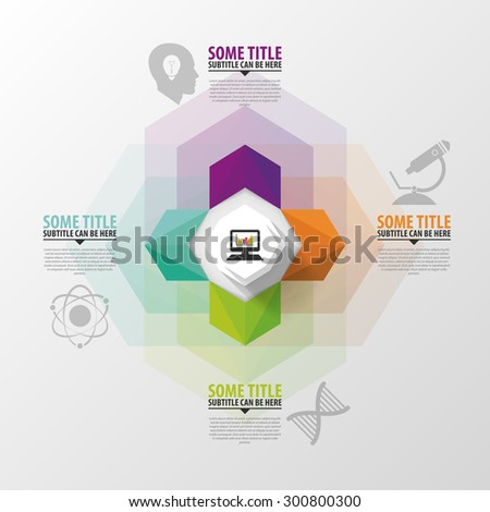 Modern arrow options banner. Infographics. Vector illustration - stock vector