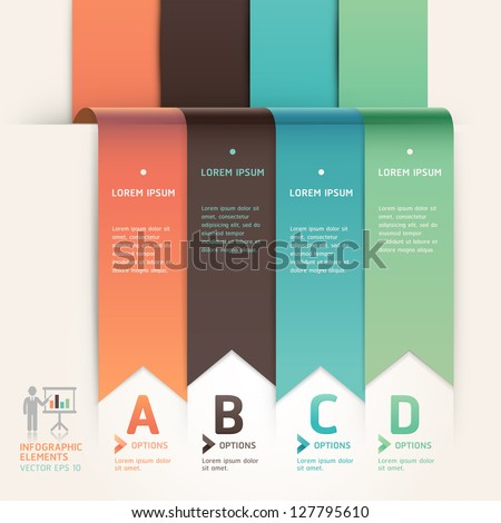 Modern arrow origami style step up options banner template. Vector illustration. can be used for workflow layout, diagram, web design, number options, infographics. - stock vector