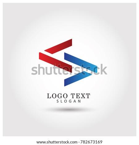 Modern 2 Arrows Symbol Icon Logo Stock Vector 782673169 Shutterstock