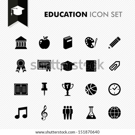 Modern back to school education concept icons set. Vector file in layers for easy editing.