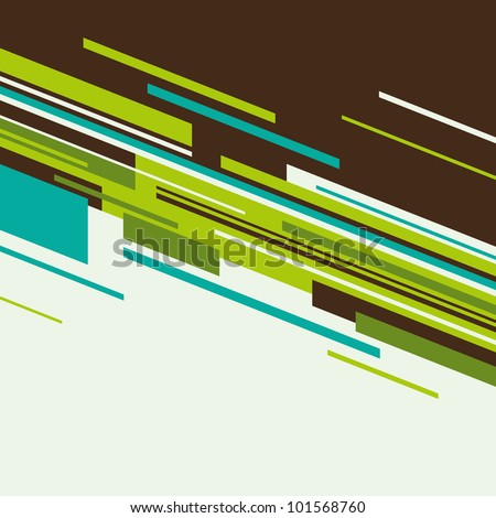 Modern background with abstraction. Vector illustration. - stock vector