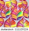 modern background with leaves - stock vector