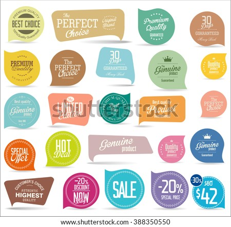 Modern badges collection - stock vector