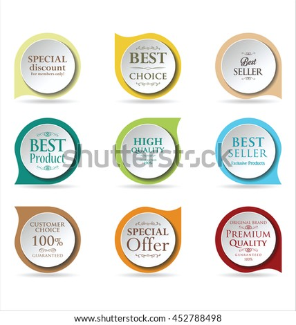 Modern badges colorful collection  - stock vector