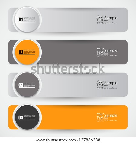 Modern banner Design template / can be used for infographics - stock vector