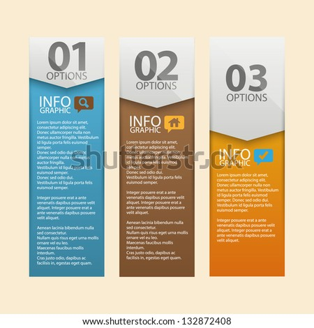 Modern banner design template. Vector illustration. Used in infographics, numbered banners, horizontal cutout lines, graphic or website layout. - stock vector