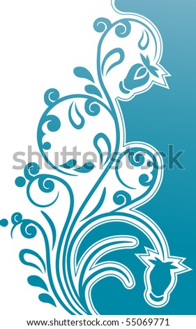 Modern beautiful floral design element - stock vector