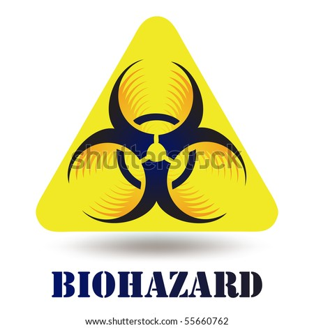 Modern Biohazard icon sign symbol vector isolated on white - stock vector