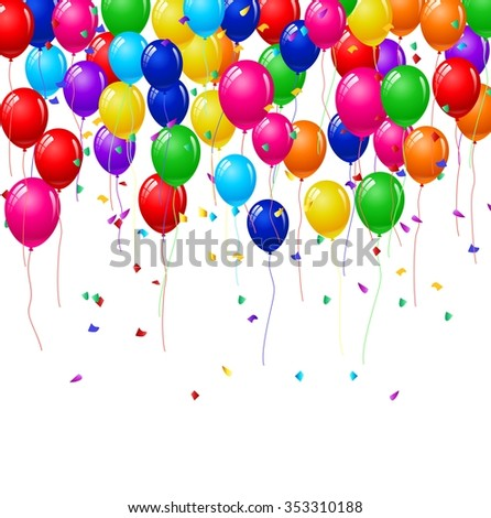 Modern birthday background with balloons
