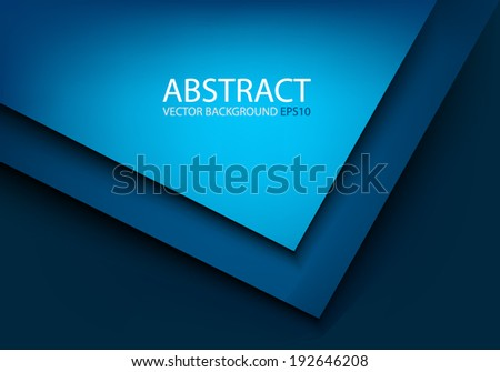 Modern blue background overlap on blue dark background for text and message design , vector - stock vector