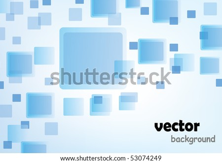 modern blue background with sample text isolated on white - stock vector