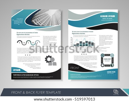 Modern Blue Brochure Design Template Brochures Stock Vector - Brochures design templates