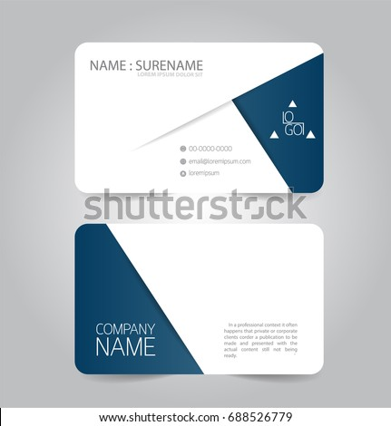Modern blue business name card template stock vector 688526779 modern blue business name card template accmission Images