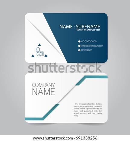 Modern blue business name card template stock vector 691338256 modern blue business name card template design flashek Choice Image