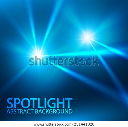 Modern blue spotlight. Vector illustration - stock vector