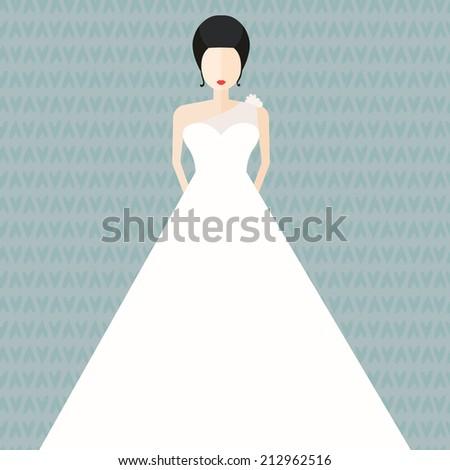 Modern Bridal Vector Illustration Bride White Stock Vector 212962516 ...