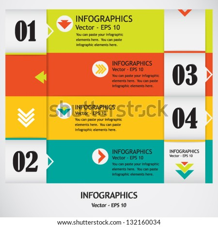 Modern bright infographic template; use it for design of websites, banners, business templates and presentations