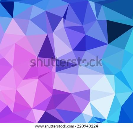 modern bright light color triangular geometric polygonal background - stock vector