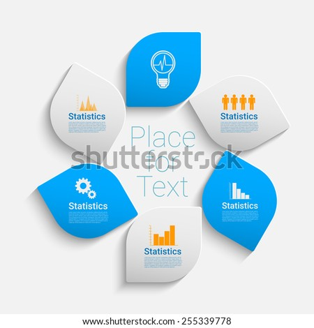 Modern bright style vector illustration. Can be used for work-flow layout, diagram, number options, web design, infographics, business brochure.  - stock vector