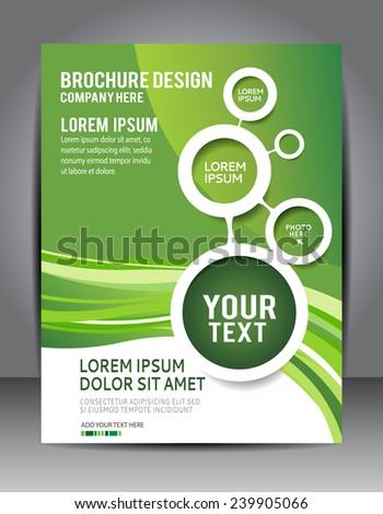 Modern Brochure Design Content Background Design Stock Vector - Modern brochure design templates