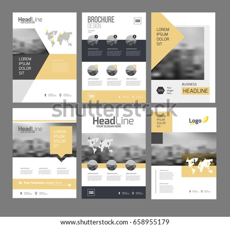 Modern Brochure Design Template Vector Set Stock Photo Photo