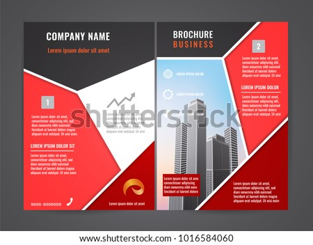 modern brochure flyer design template leaflet cover presentation abstract background for business magazines