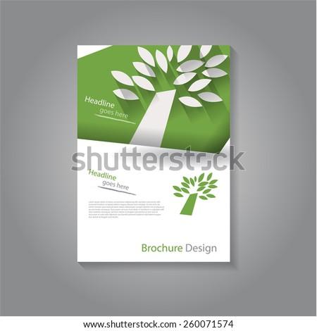 Modern brochure / flyer design with abstract tree, eps10 Vector. - stock vector