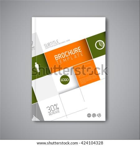 Modern brochure template. - stock vector