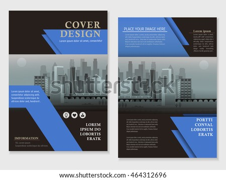 Modern Brochure Template Design Urban Landscape Stock Vector - Modern brochure template