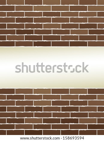 modern brown brick wall with light background for text