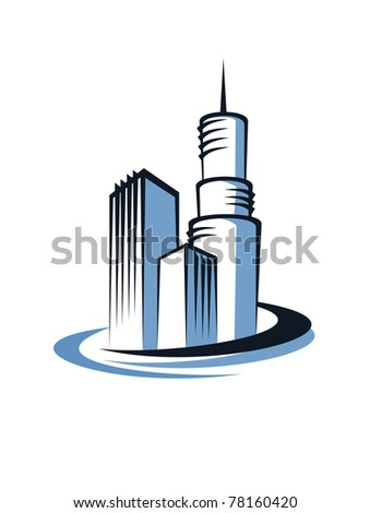 Modern building, such a logo. Jpeg version also available in gallery - stock vector