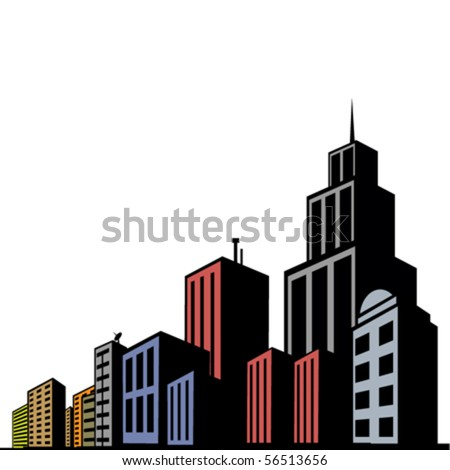 modern buildings - stock vector