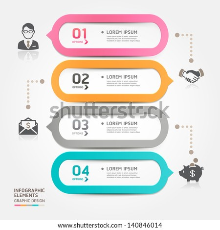 Modern business bubble speech template style. Vector illustration. can be used for workflow layout, diagram, number options, step up options, web design, banner template, infographic. - stock vector