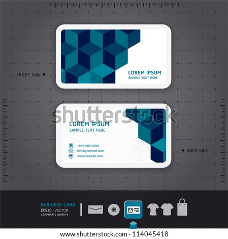 Modern Business-Card  Design template / corporate identity design for business set / vector - stock vector