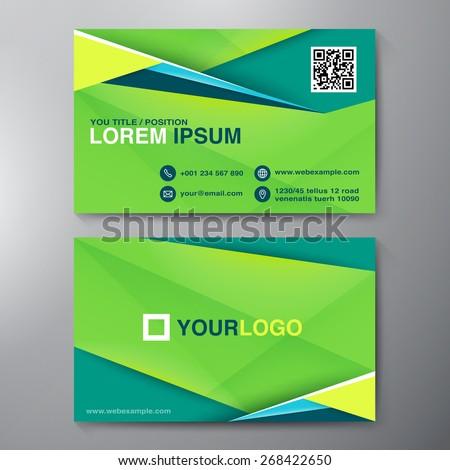 Modern Business card Design Template. Vector illustration - stock vector