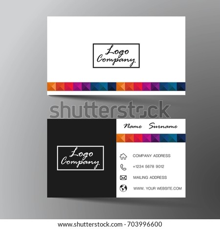 Modern business card design inspiration abstract flat stock vector modern business card design with inspiration from the abstractflat design reheart Image collections