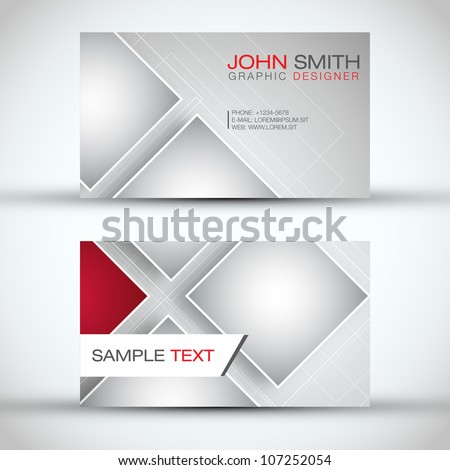 Modern Business - Card Set | EPS10 Vector Design - stock vector